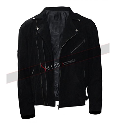 CHICAGO-FASHIONS Jon Hamm Baby Driver Buddy Black Jacket (X-Large, - Style Jon Hamm