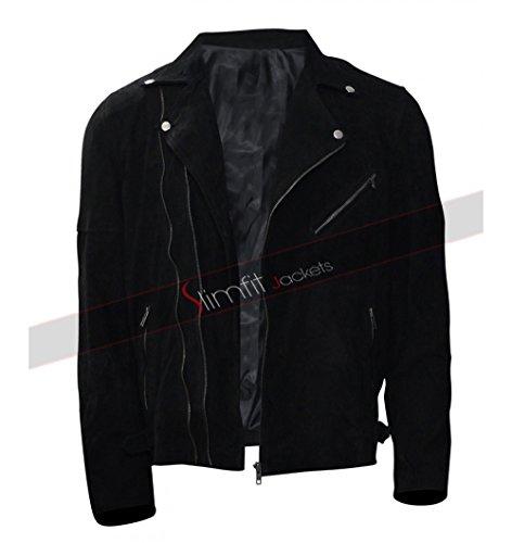 CHICAGO-FASHIONS Jon Hamm Baby Driver Buddy Black Jacket (X-Large, - Style Hamm Jon