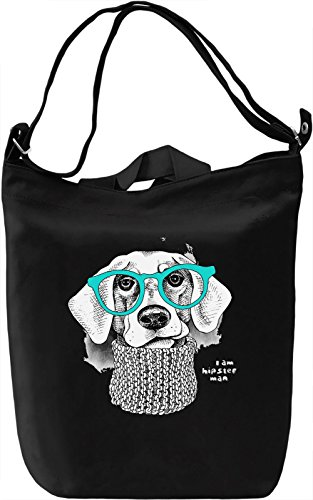 Dog With Blue Glasses Borsa Giornaliera Canvas Canvas Day Bag| 100% Premium Cotton Canvas| DTG Printing|