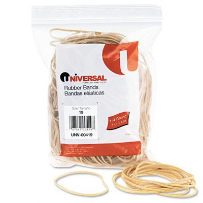 Universal Rubber Bands, 310 Bands/0.25 lb Pack