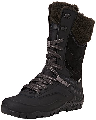 Merrell Aurora Tall Ice+ Waterproof, Zapatos de High Rise Senderismo para Mujer Negro (Blackblack)
