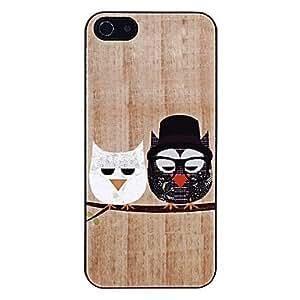 Señor Búho y Señora Owl Patrón aluminoso duro caso para iPhone 5/5S