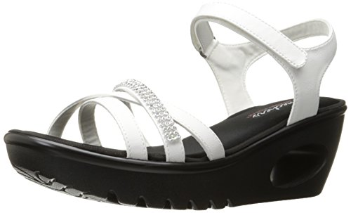 Skechers Cali Women's Concords Platform Dress Sandal, White, 9 M US