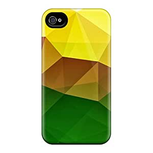 Top Quality Rugged Green Yellow Polygons Cases Covers For Iphone 6