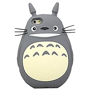 iPhone 6S Case, MC Fashion Lovely 3D Cute Japanese Cartoon Totoro Soft Silicone Protective Case For Apple iPhone 6S (2015) & iPhone 6 (2014) (Gray)