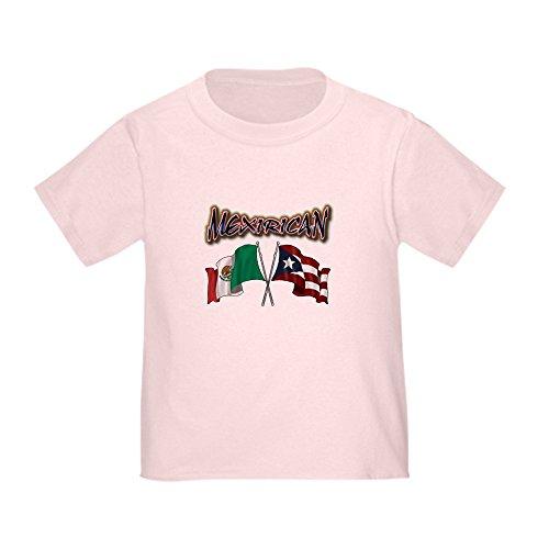 CafePress MexiRican Flags T-Shirt Cute Toddler T-Shirt, 100% Cotton Pink