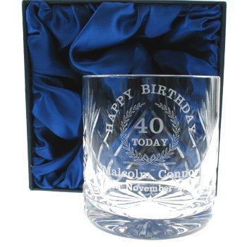 40th Birthday Whisky Glass For Him Personalised Gifts By
