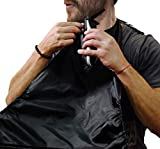 Beard Cape Apron for Shaving - NEW MODEL 2017 – Beard Shaving Bib Catcher for Easy Clean Up & a Clog-Free Drain – Grooming Cape Gift Ideas for Bearded Men