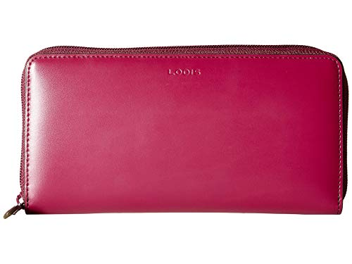 Lodis Accessories Women's Audrey Under Lock & Key RFID Perla Zip Wallet Berry/Avocado One Size ()