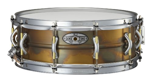 Pearl STA1450FB 14 x 5 Inches Sensitone Premium Snare Drum - Beaded (Beaded Brass Snare)