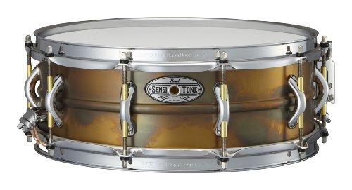 Pearl STA1450FB 14 x 5 Inches Sensitone Premium Snare Drum - Beaded Brass ()