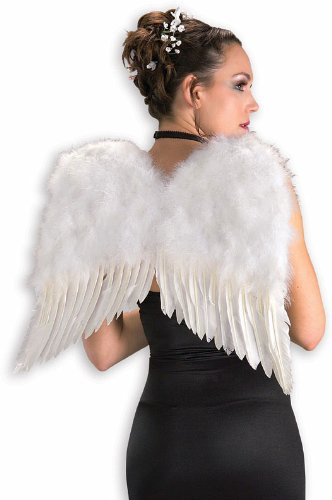 [Rubies Deluxe White Feather Wings] (Angel Wings For Halloween Costumes)