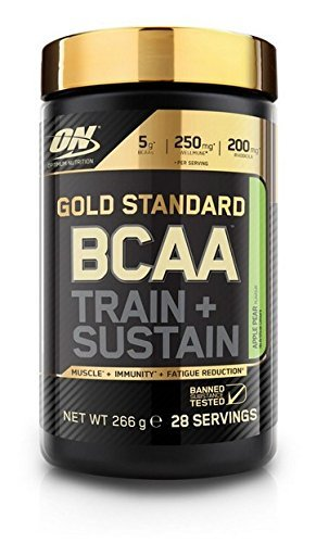 Optimum Nutrition Gold Standard BCAA Train & Sustain, Pera y Manzana - 266 g