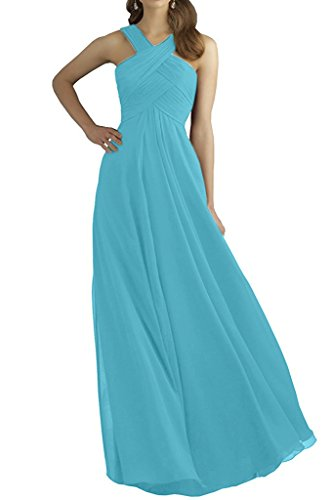 Women Bridesmaid Blue Gown Dress MaliaDress Sky Cross M211LF Sexy Neck Prom fwqqdRI