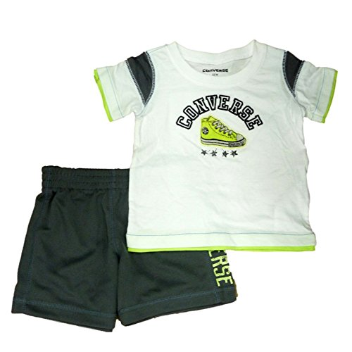 Converse Infant & Toddler Boys 2 Piece Athletic T-Shirt & Gray Mesh Shorts Set ()