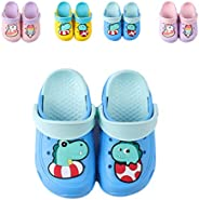 imuto Kids Unicorn Clogs Boys Girls Slippers Summer Kids Lightweight Sandals Shockproof Non-Slip Garden Shoes