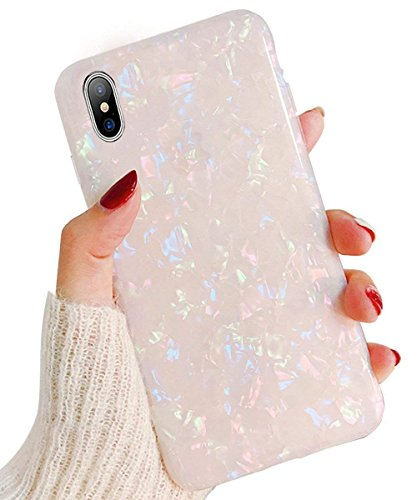 PHEZEN iPhone XS Case iPhone X Case,Cute Luxury Sparkle Bling Crystal Clear Bumper Shockproof Slim Fit Soft TPU Rubber Silicone Back Cover Protective Phone Case for iPhone XS/iPhone X, Colorful