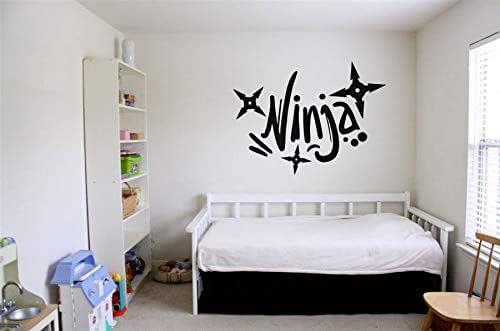 Ninja Graffiti Wall Decal Vinyl Sticker Home Interior Design Living Room Wall Decoration Bedroom Wall Art Murals Removable Stickers 7ninz
