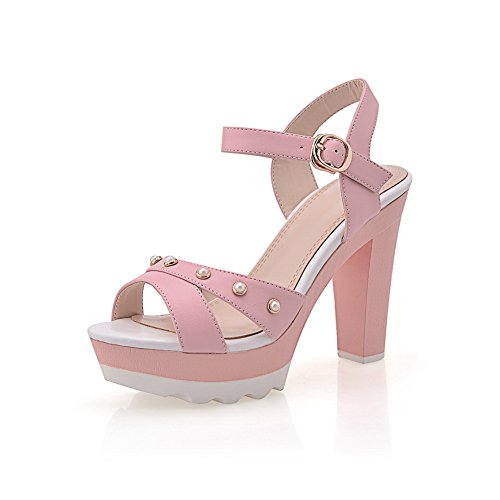 Pink Girls Sandals 1TO9 Material Rain Rivet Studded Solid Soft Up14CqUB