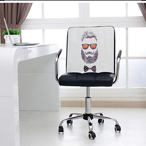 SACKDERTY Chaise de Bureau Chaise de Bureau d'ordinateur pivotante en Cuir réglable en Hauteur de Tabouret d'ascenseur de Bureau à Domicile