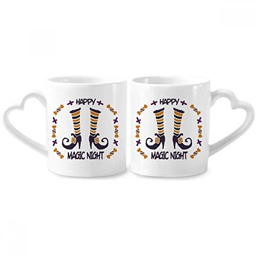 Magic Boots Of Halloween Couple Mugs Ceramic Lover