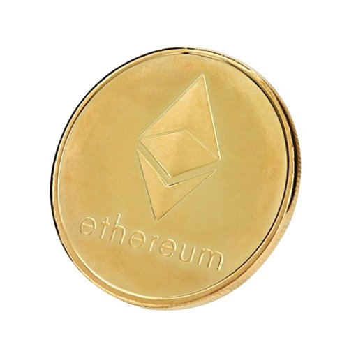 Kanzd Gold Plated Commemorative Collectible Golden Iron ETH Ethereum