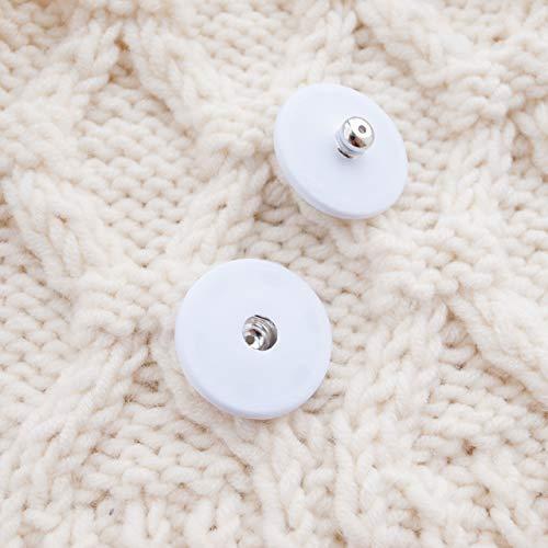 【スナップボタン(縫い付けタイプ)】シルクスナップボタン #ASP0002 25mm C/#01 ホワイト 2個セット