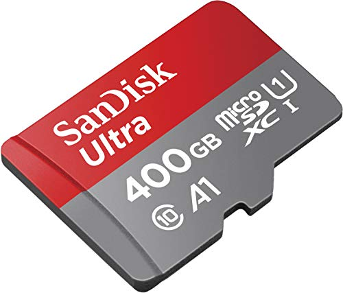 SanDisk Ultra 400GB microSDXC Memory Card + SD Adapter with A1 App Performance up to 100MB/s, Class 10, U1