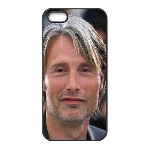 Mads Mikkelsen Smile Man Look Gray Haired 70436 coque iPhone 5 5S cellulaire cas coque de téléphone cas téléphone cellulaire noir couvercle EOKXLLNCD25700