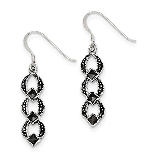 (Best Birthday Gift Sterling Silver Marcasite Earrings )