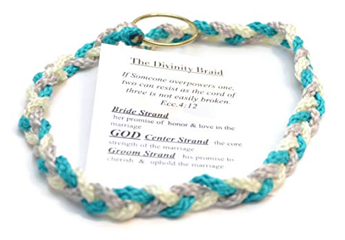 - Divinity Braid Cord of Three Strands, Turquoise Silver