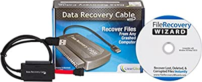 ClearClick Data Recovery Cable with File Recovery Wizard Software