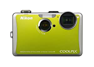 Nikon Coolpix S1100pj 14 MP Digital Camera with 5x Wide Angle Optical Vibration Reduction (VR) Zoom and 3-Inch LCD and Built-in Projector (Green)