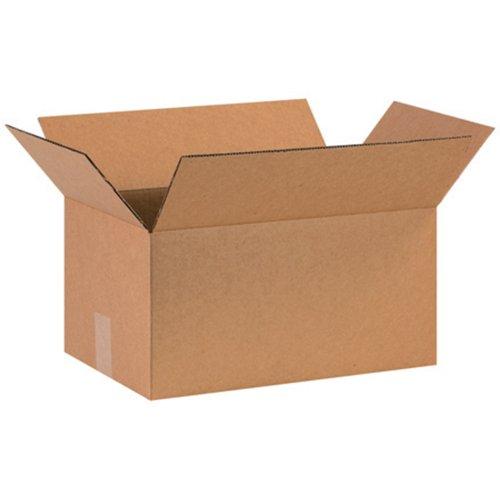 "Aviditi 16108 Corrugated Box, 16"" Length x 10"" Width x 8"" He"