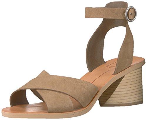 Dolce Vita Women's Roman Heeled Sandal, Olive Nubuck, 7 M US