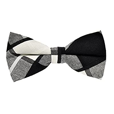Startby Mens Cotton Plaid Bow Ties Pre-Tied