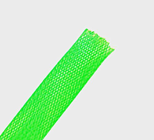Wang-Data PET Green Braided Cable Sleeve 1/4 inch X 100ft (1/4'' X 100') by Wang-Data