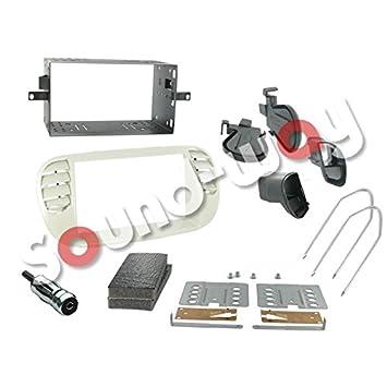 Kit de montaje Marco para radio adaptador autoradio para FIAT 500 gris perla 2 DIN: Amazon.es: Coche y moto