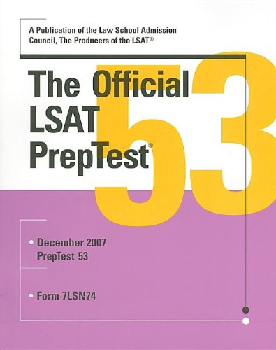 The Official LSAT PrepTest 53 (Official LSAT PrepTest)