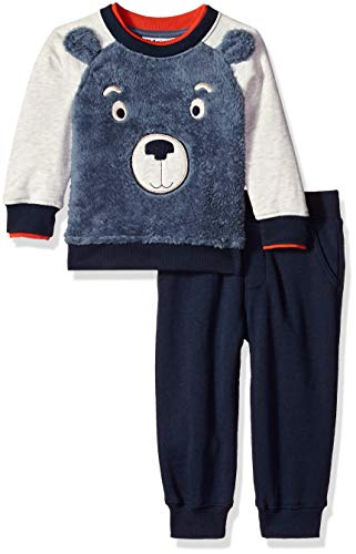 Kids Headquarters Baby Boys 2 Pieces Pullover Pant Set, Blue/Navy 24M
