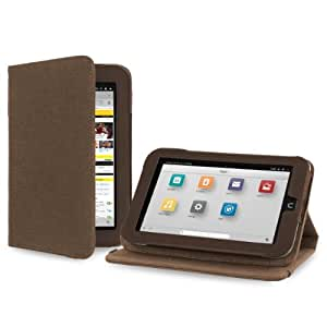Cover-Up Barnes & Noble Nook HD (7-inch) Tablet Version Stand Natural Hemp Cover Case - Cocoa Brown