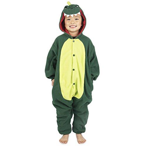 (Emolly Fashion Kids Animal Dinosaur Pajama Onesie - Soft and Comfortable with Pockets (5, Dino))