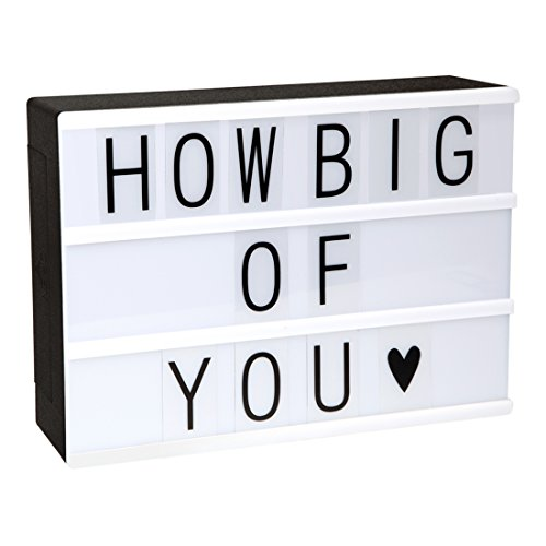 ME456 Battery Powered Cinematic Light Up Box with 90 Interchangeable Letter, Numbers and Symbols (A4 Size)