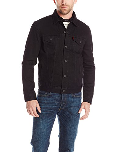 Levi's Men's The Trucker Jacket, Berkman/Black, Large