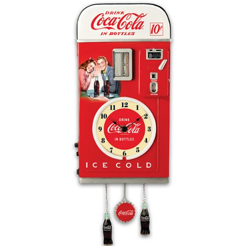 Wall Decor: COCA-COLA Time For Refreshment Vending Machine Wall Clock by The Bradford Exchange 41iAy2GdkIL