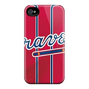 Cases Covers Atlanta Braves/ Fashionable Cases For iphone 4 4s