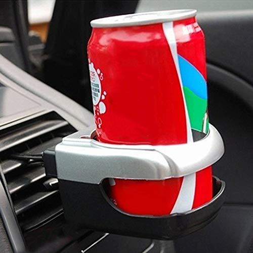 Universal Auto Car Veh/ículo Bebida Sostenedor de Vaso Bebidas Rack de Botellas de Agua Port/átiles Port/átiles Estilo de Coche Salida de Aire Clip de Montaje Plateado