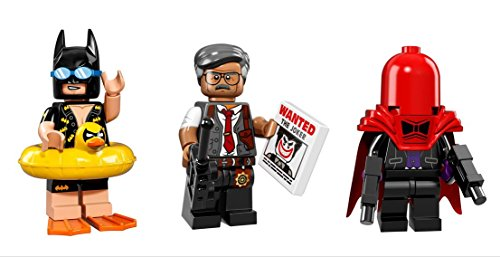 Lego Batman Swimsuit, Commissioner Gordon, Red Hood Minifigures Lego Batman (Original Batman Suit)