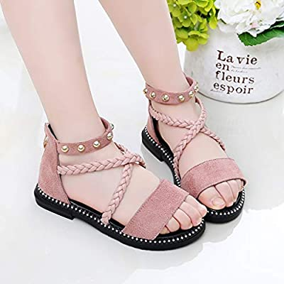iYBUIA Summer Lovely Children Kids Baby Girls Wave Flower Princess Non-Slip Beach Shoes Sandals