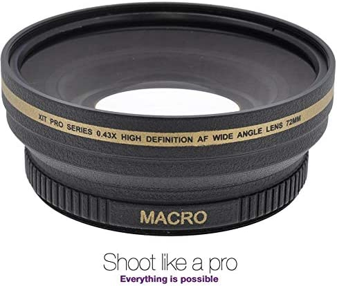 0.43x Hi Def Wide Angle with Macro Lens for Nikon Z6 Z7 Z-6 Z-7 72mm Compatible